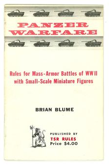 Panzer Warfare TSR Miniature Rules