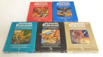 Dungeons & Dragons Rulebook Box Set Lot 1-5
