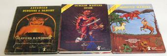 Advanced Dungeons & Dragons Rules Handbooks Set of 3
