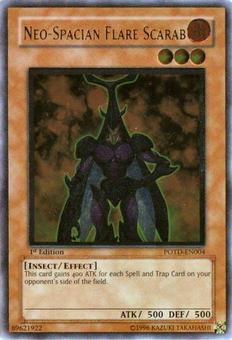 Yu-Gi-Oh Power of the Duelist 1st Ed. Neo-Spacian Flare Scarab Ultimate Rare - NEAR MINT (NM)