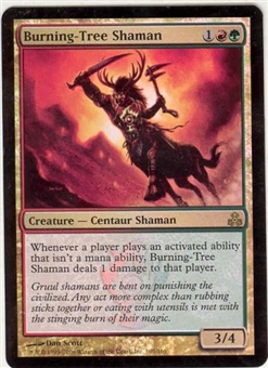 Magic the Gathering Guildpact Single Burning-Tree Shaman Foil