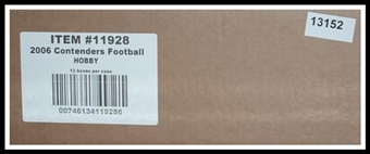2006 Playoff Contenders Football Hobby 12-Box Case