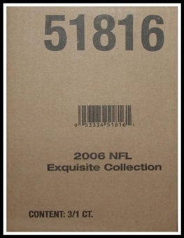 2006 Upper Deck Exquisite Football Hobby 3-Box Case 51816