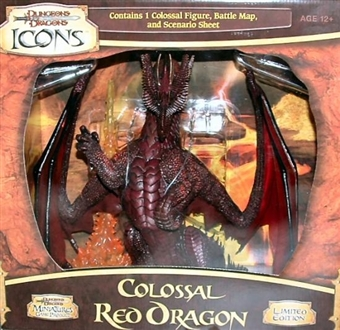 WOTC Dungeons & Dragons Miniatures Colossal Red Dragon Figure (Box)