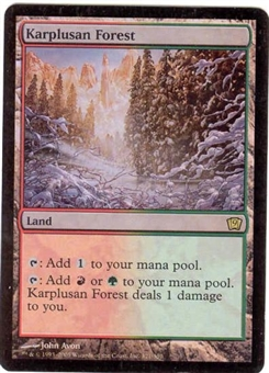 Magic the Gathering 9th Edition Single Karplusan Forest Foil