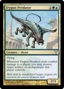 Magic the Gathering Dissension Single Trygon Predator FOIL
