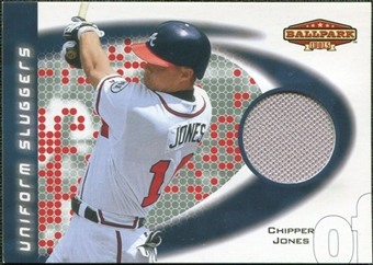 2002 Upper Deck Ballpark Idols Uniform Sluggers Jerseys #CJ Chipper Jones