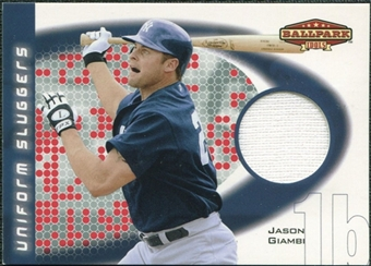2002 Upper Deck Ballpark Idols Uniform Sluggers Jerseys #JGI Jason Giambi
