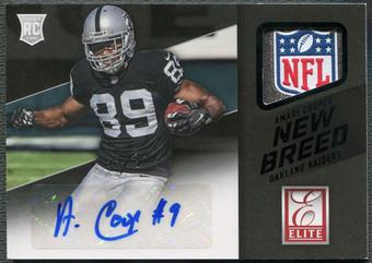 2015 Donruss Elite #NBAAC Amari Cooper New Breed Laundry Tag NFL Shield Rookie Auto #1/1