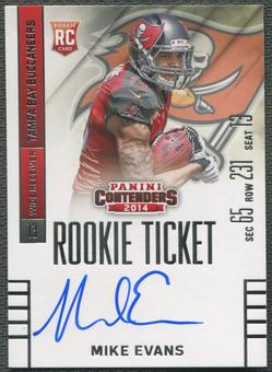 2014 Panini Contenders #236 Mike Evans Rookie Auto