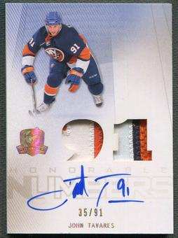 2009/10 The Cup #HNJT John Tavares Honorable Numbers Rookie Patch Auto #35/91