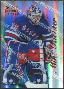 1996/97 Select Certified #39 Mike Richter Mirror Blue With Coating