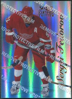 1996/97 Select Certified #55 Sergei Fedorov Mirror Blue With Coating