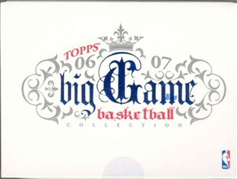 2006/07 Topps Big Game Collection Basketball Hobby Box