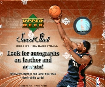 2006/07 Upper Deck Sweet Shot Basketball Hobby Box