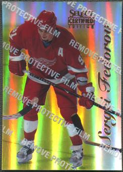 1996/97 Select Certified #55 Sergei Fedorov Mirror Gold