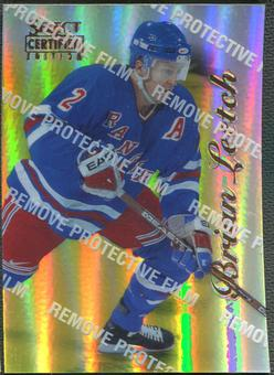 1996/97 Select Certified #76 Brian Leetch Mirror Gold