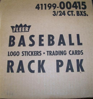 1990 Fleer Baseball Rack 3-Box Case