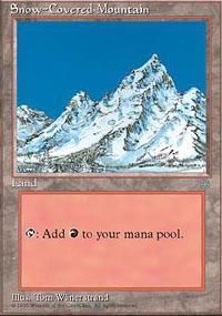 Magic the Gathering Ice Age Single Snow-Covered Mountain - NEAR MINT (NM)