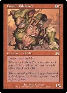 Magic the Gathering Onslaught Single Goblin Piledriver Foil Near Mint (NM)
