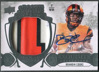 2014 Exquisite Collection #139 Brandin Cooks Rookie Patch Auto #40/75