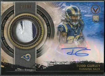 2015 Topps Valor #SHATG Todd Gurley Shield of Honor Rookie Patch Auto #77/99