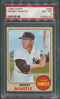 1968 Topps Baseball #280 Mickey Mantle PSA 8 (NM-MT)