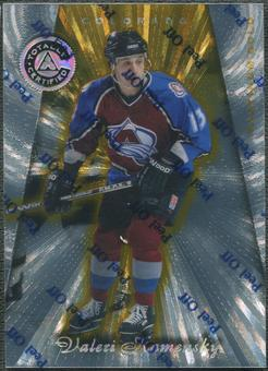 1997/98 Pinnacle Totally Certified #67 Valeri Kamensky Platinum Gold #51/69
