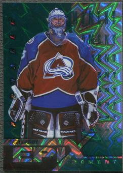 1997/98 Pinnacle #7 Patrick Roy Epix Moment Emerald /30
