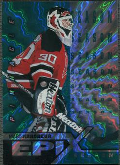 1997/98 Pinnacle #8 Martin Brodeur Epix Season Emerald /50