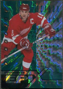 1997/98 Pinnacle #9 Steve Yzerman Epix Season Emerald /50