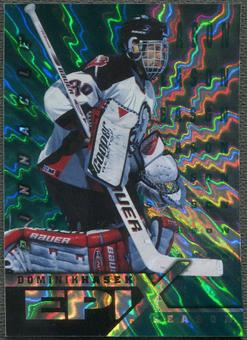 1997/98 Pinnacle #22 Dominik Hasek Epix Season Emerald /50