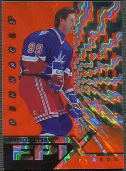 1997/98 Pinnacle #1 Wayne Gretzky Epix Season Orange