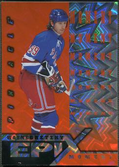 1997/98 Pinnacle #1 Wayne Gretzky Epix Moment Orange