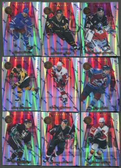 1997/98 Pinnacle Certified Mirror Red 19 Card Lot Hasek, Jagr, Messier, Sakic