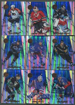 1997/98 Pinnacle Certified Mirror Blue 21 Card Lot Hasek, Brodeur, Lindros, Jagr, Forsberg