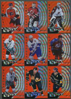 1997/98 Pinnacle Epix Play Orange 12 Card Lot Roy, Lindros, Jagr, Bure