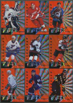 1997/98 Pinnacle Epix Game Orange 16 Card Lot Sakic, Roy, Lindros, Jagr