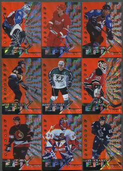1997/98 Pinnacle Epix Season Orange 14 Card Lot Roy, Sakic, Jagr, Bure