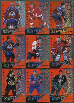 1997/98 Pinnacle Epix Moment Orange 14 Card Lot Roy, Sakic, Lindros, Jagr