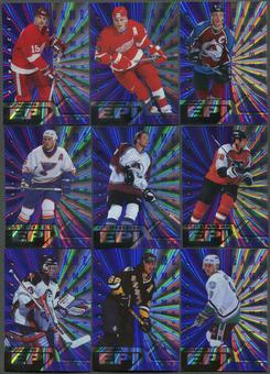 1997/98 Pinnacle Epix Game Purple 27 Card Lot Sakic, Yzerman, Hasek, Jagr