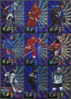 1997/98 Pinnacle Epix Season Purple 17 Card Lot Sakic, Roy, Yzerman