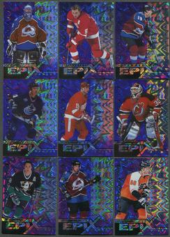 1997/98 Pinnacle Epix Moment Purple 16 Card Lot Roy, Yzerman, Sakic