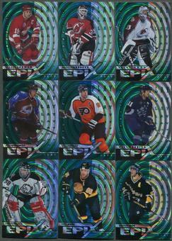 1997/98 Pinnacle Epix Play Emerald 15 Card Lot Roy, Yzerman, Brodeur, Messier