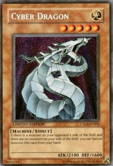 Yu-Gi-Oh Limited Edition Tin Single Cyber Dragon Secret Rare (CT03-EN002)