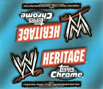 2006 Topps WWE Heritage Chrome Wrestling 24 Pack Box
