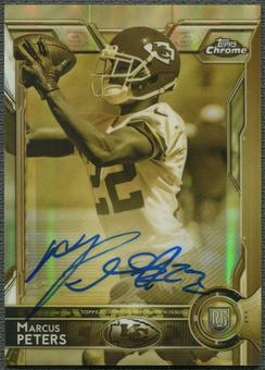 2015 Topps Chrome #124 Marcus Peters Rookie Sepia Gold Refractor Auto #10/50