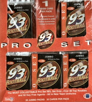 1993 Pro Set Football Jumbo Box