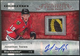 2007/08 Hot Prospects #249 Jonathan Toews Rookie Patch Auto #035/199