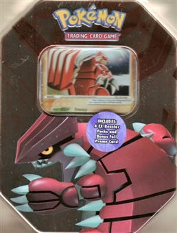 2006 Pokemon EX Holiday Groudon Tin